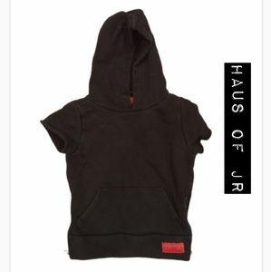 Haus of Jr Black Hoodie Vest